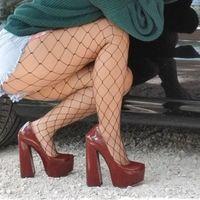 Kleid Schuhe OnlyMaker Womens Runde Zehenplattform 15 cm ~ 16cm Chunky High Heels Knöchelriemen Huf Dicke große Größe