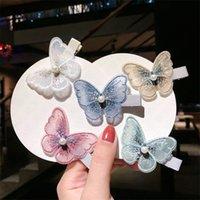Nakış üç boyutlu kelebek saç tokası Sevimli Kelebek Saç Klip Tokalar Kızlar Şapkalar Gradyan Saç iğneler Aksesuarları D62803