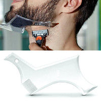 Barba Shaping Styling Template Pettine per gli uomini Beauty Tool Hair Beard Trim Templates Hair Whisker Modeling Tools Fashion