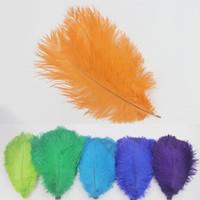25-30см перо страуса этап празднования свадьбы карнавал ремесло цвет чистый натуральный перо страуса бесплатная доставка