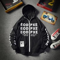 summer jackets men hooded fashion loose letter printed thin ...