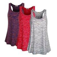 Yoga Outfits 2021 Женщины Летние I-образные задние Жилеты Танки Лучшие бегущие спортивные рубашки спортсмены свободные без рукавов баскетбол Mujer jogging
