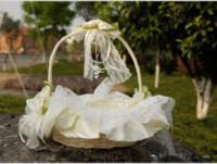 Королевские Девушки Корзины Цветов Ручной Работы Цветы Кружева 2019 Западной Моды Церемония Свадьба Поставки Свадебные Лепесток Хранения