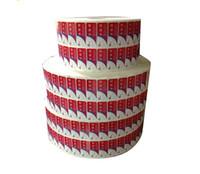 Etiqueta engomada de logotipo transparente colorido autoadhesivo personalizado, impresión impermeable Etiqueta de embalaje de vinilo transparente