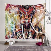 150 * 200 cm etnik hint goblen Tayland fil duvar asılı boho dekor hayvan baskı halılar bez yatak örtüsü modern çadır halı