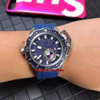 6 estilo de alta qualidade Assista Hammerhead Tubarão Diver Mergulho Profundo Automático Mens Watch 3203-500LE-3/93-MARTELO Azul Dial Rubber Strap Gents Relógios