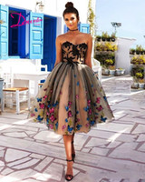 2019 Cheapest Knee Length 3D butterfly Homecoming Dress Plus...