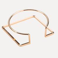 pulseras jewlery círculo brazaletes de puño abierto cuadrados redondos para las mujeres al por mayor caliente de la moda