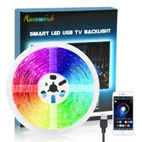 DIY 5050 RGB LED 스트립 방수 DC 5V의 USB LED 빛 유연한 테이프 300cm에 3M 블루투스 APP를 들어 TV의 배경 스트립