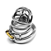 Fácil de fazer xixi Dispositivo de metal galo de metal gaiola 304 # cinto de aço inoxidável cinto de castidade para homens