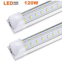 20pcs, v 형 2ft 3ft 4ft 5ft 6ft 8ft 쿨러 도어 LED 튜브 T8 통합 LED 튜브 양면 LED 조명 85-265V 주식