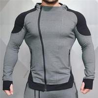 Art und Weise Baumwolle Pullover Männer Fitness Hip Hop-Männer Marke Fest Hooded Zipper Hoodie Cardigan Sweatshirt Slim Fit Männer Hoody