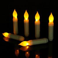 vela electrónica del LED de la forma cónica Velas Velas de boda decoración de la decoración de la vela de San Valentín Familia cena decoración cena con velas