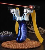 الأزرق في الهواء الطلق قوس recurve المقاليع الصيد الرماية المنجنيق ليزر تهدف Slingbow شقة المطاط الفرقة إطلاق نار taret لعبة لعبة التقليدية