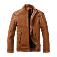 PU Bomber Leather Jackets Magro Plus Size clássico Pilot roupa morna velo Inner Coats Mens casacos de moda
