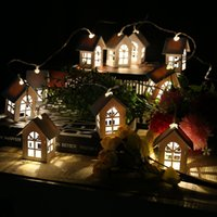 10LEDs Wood House Shape String Light Christmas Light Wedding...