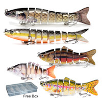 Fishing Lures for Bass 5PCS Set Multi Jointed Realistic Swim...