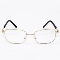 الجملة نظارات القراءة المحمولة للطي نظارات القراءة المعادن نظارات القراءة الراحة في الجيب أقدم فضي ذهبي اللون DH0672