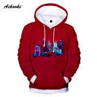 Aikooki KPop мужчин / женщины Толстовки Толстовка нового участника моды печать 3D хип-хоп гостиные пиджаки