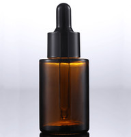 Новое прибытие Brown Очистить матовое стекло 30мл Эфирное масло Контейнеры Переносные Бутылки 1OZ пипеткой для косметики по уходу за кожей