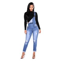 27c3e4d3786 New Arrival. Woman Overalls Straps Jeans Ripped Hole Stretch Jumpsuit ...