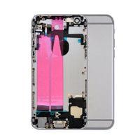 Geri iphone 6 6G 6S Artı metal Orta Çerçeve Şasi için Flex Kablo ile 30pcs Tam Konut Montaj Pil Kapağı Kapı Arka