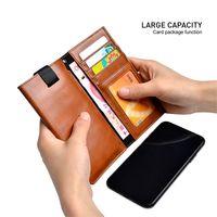 PU 가죽 지갑 클립 전화 파우치 아이폰 (11) 프로 맥스 XS XR X 8 홀스터 케이스 다기능 사진 프레임 카드 슬롯 커버