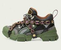 الأحذية الكاجوال بلورات إزالة MEN إمرأة حذاء رياضة تسلق مصمم أحذية أحذية الرجال في الهواء الطلق مع كريستال chain25632