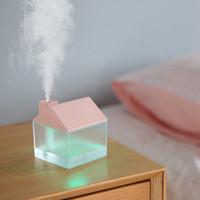ضباب المرطب مع USB مروحة USB LED ضوء لغرفة نوم الطفل بالموجات فوق الصوتية علاوة البسيطة مرطب الهواء الناشرون جدب السيارات للإيقاف RRA2823