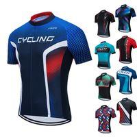 Teleyi 2020 Pro Takım Bisiklet Jersey Erkekler Kısa Kollu MTB Bisiklet Kazağı Gömlek Nefes Bisiklet Ropa Tops