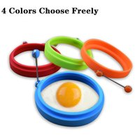 Новый Силиконовый жареное яйцо блин кольцо омлет жареное яйцо круглый формирователь яйца плесень для приготовления завтрака сковорода духовка кухня