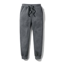 Männer Dicker Fleece Thermik Hosen Outdoor-Winter-warme beiläufige Hosen Jogger Sport KNG88