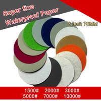 36PCS 3 pouces flocage étanche Papier de verre Papier abrasif 4-10000 grits auto-adhésif sec humide pour le ponçage de polissage
