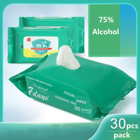 الكحول المطهر المسحات 30PCS / حزمة 75٪ الكحول مضاد للبكتيريا مطهر المسحات الكحول التعقيم ورقة المناشف DHL السفينة