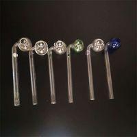 Clear Pyrex Glass Oil Burner Pipe 3 цветов сгущают Balancer водопроводной труба Малого Handpipe затяжки для курительных аксессуаров 1 9PS E19