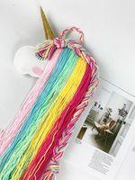 新しいユニコーンの赤ちゃんの髪の弓ホルダーハンガーの女の子の毛クリップ収納オーガナイザー携帯用髪の穴のベルト保育園の装飾子供の髪の弓オーガナイザー