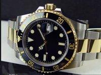 أعلى جودة ساعات رجالية تاريخ 16613 الأسود الطلب 40 ملليمتر 18kt الذهب ss اثنين من لهجة ستاحل الذهب التلقائي رجالي ووتش