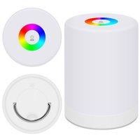 Lumière Nuit, Table tactile Lampe pour Chambres Chevet, Mini Dimmable lumière blanche chaude couleur RGB Changement