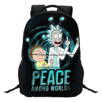 VEEVANV Anime Cartoon Rick And Morty Backpacks school bags f...