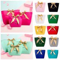 هدايا ورقة حقائب مع مقابض الصرفة اللون 11 ألوان الملابس حذاء حقيبة تسوق هدية التفاف 3 مقاسات DHL WX9-1751