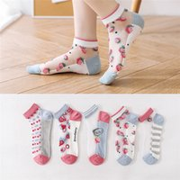 Karikatur-Frucht-Frauen Socken Hausschuhe Breath nette Frauen-Seiden-Socken Strümpfe Frühling-Sommer-beiläufige Damen-Socken
