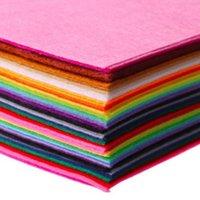 Tessuto 40pcs 15x15cm 40 Colori / lotto FAI DA TE Panno in feltro non tessuto in feltro Feltro Poliestere Tessuti non tessuti acrilici acrilici