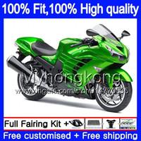Iniezione per Kawasaki ZX 14R ZZR1400 2006 2007 2008 2009 2010 2011 Glossy verde 223MY.2 ZZR1400 ZX14R ZX14R 06 07 08 09 10 11 carenature