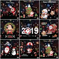 50 * 70cm 크리스마스 홈 데칼 DH0389 크리스마스 장식 창 유리 스티커 메리 크리스마스 산타 클로스 눈 PVC 이동식 벽 스티커