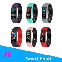 F6 Smart Armband Pulsmesser Wasserdicht Fitness Tracker Bluetooth Uhrenarmband Für Android IOS Frauen Männer Armband