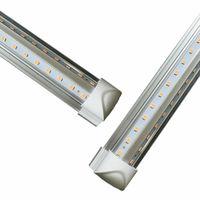Spedizione gratuita 2ft. 3ft. 4ft. 5ft. 6ft. 8ft. Led Tube Lights T8 Lampadina integrata con parti a V a forma di 270 Angolo 85-277V Luci del negozio di raffreddamento