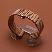 Yeni saat kayışı Mesh ve katı bağlantıları Saat Kayışı Aksesuarları 18mm 20mm 22mm 24mm rosegold kelebek toka toka dağıtım moda Cilalı