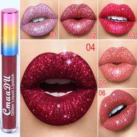 Cmaadu diamante mágico brillo líquido lápiz labial brillante marlo lápices labiales maquillaje de labios 6 colores labios brillantes cosméticos