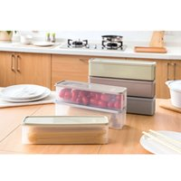 HOT Refrigerator Storage Box With Lid Plastic Drawer Crisper...