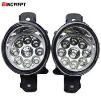 1Pair 12V LED FOG FOG Light Drl Lâmpadas de névoa dianteiras Montagem para Nissan Maxima / Versa / Altima sedan para Infiniti